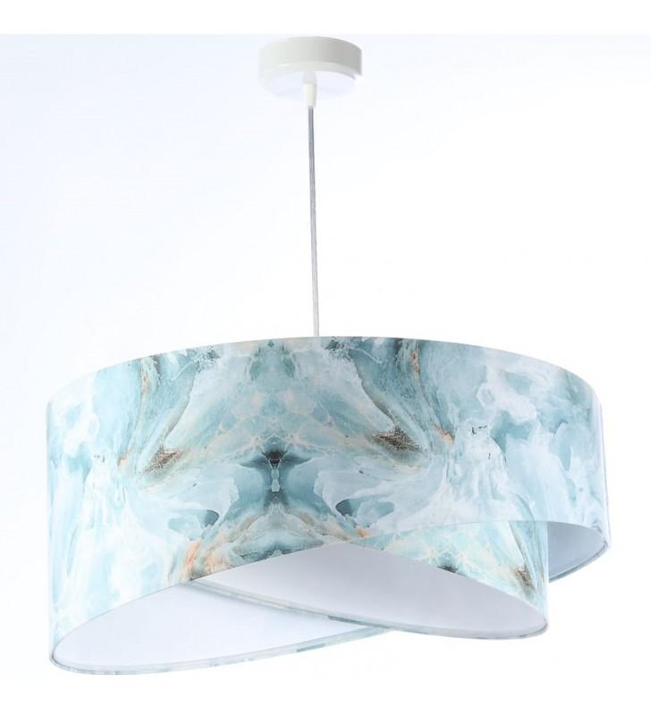 Lampa wisząca Ice niebiesko...