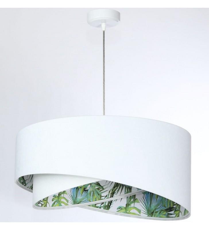 Welurowa biała lampa...