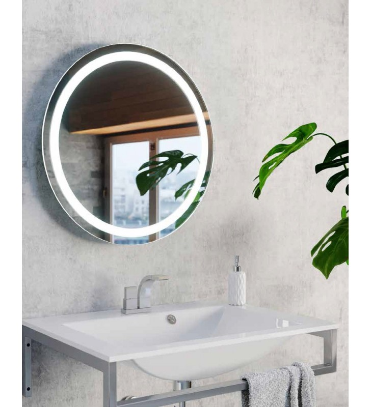 Okrągłe lustro łazienkowe z...