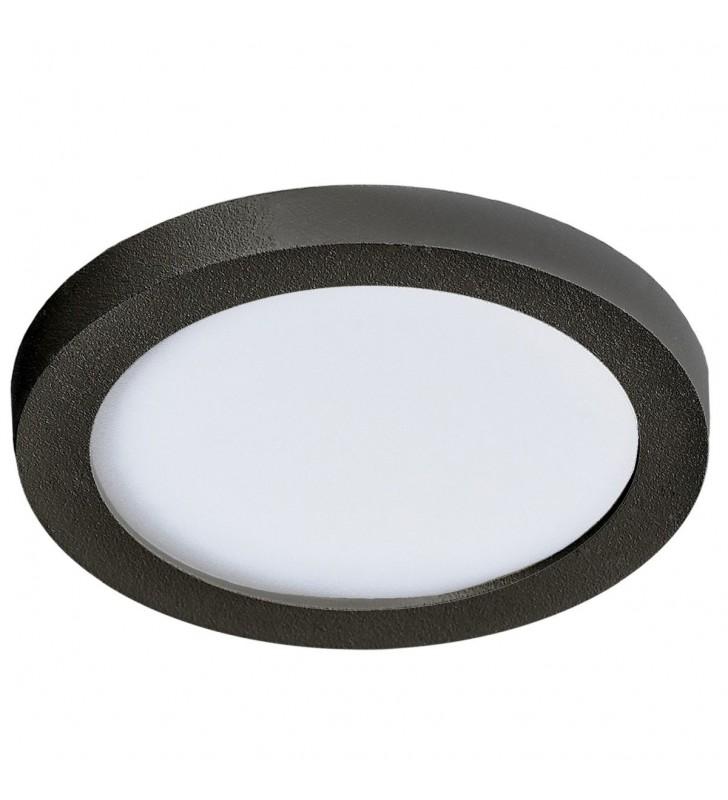 Czarna okrągła oprawa...