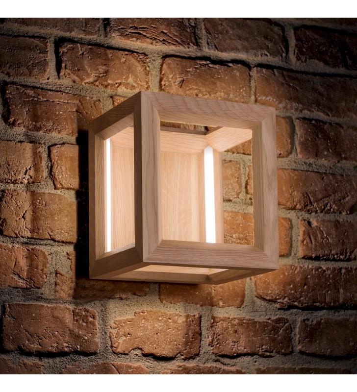 Drewniany kinkiet Kago LED...