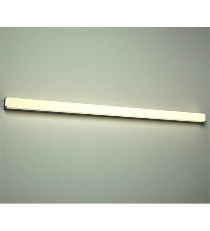 Długa 120 cm podłużna lampa łazienkowa Peter LED naturalna barwa światła proste brzegi