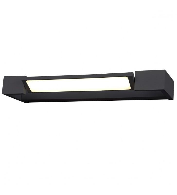 Czarna lampa oświetlająca...