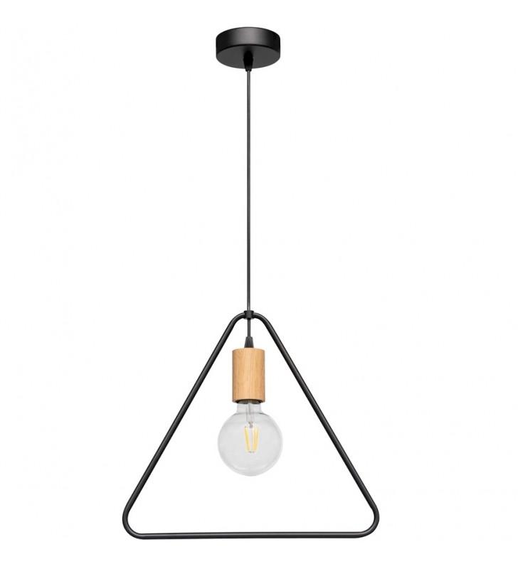 Loftowa czarna lampa...