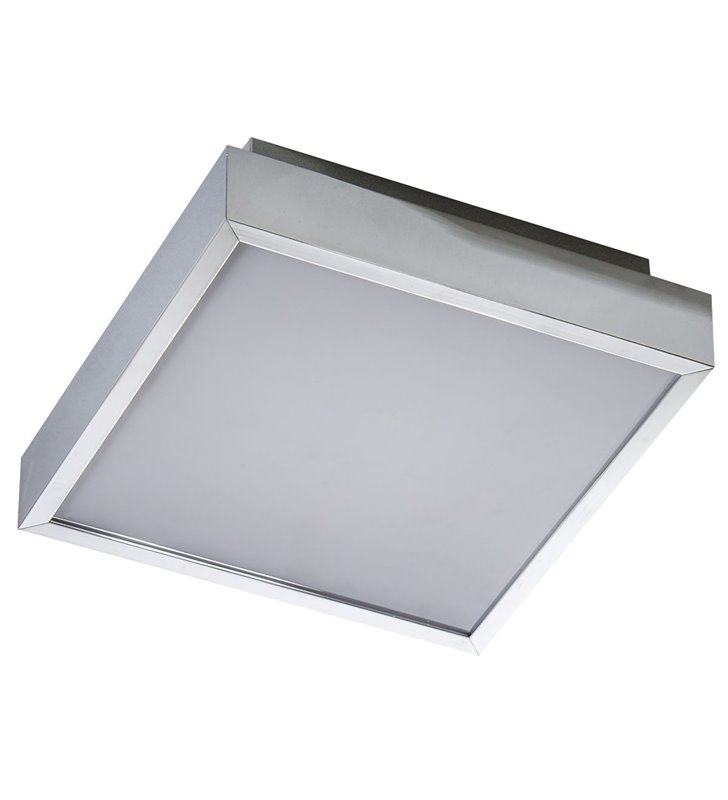 Plafon łazienkowy Asteria 250 chrom kwadratowy LED naturalna barwa światła