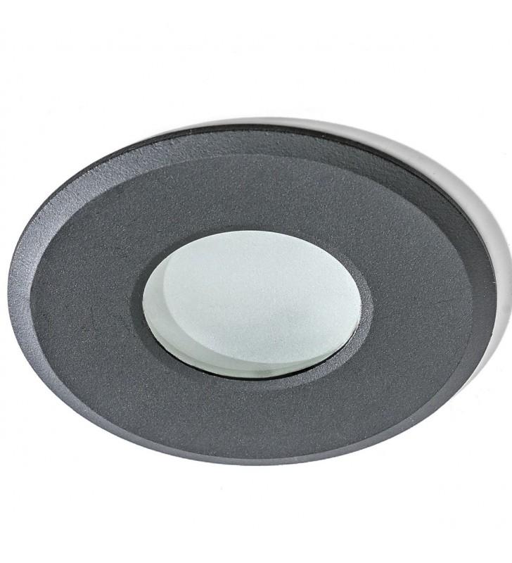 Czarna lampa punktowa do...