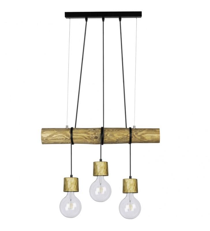 Nowoczesna drewniana lampa...