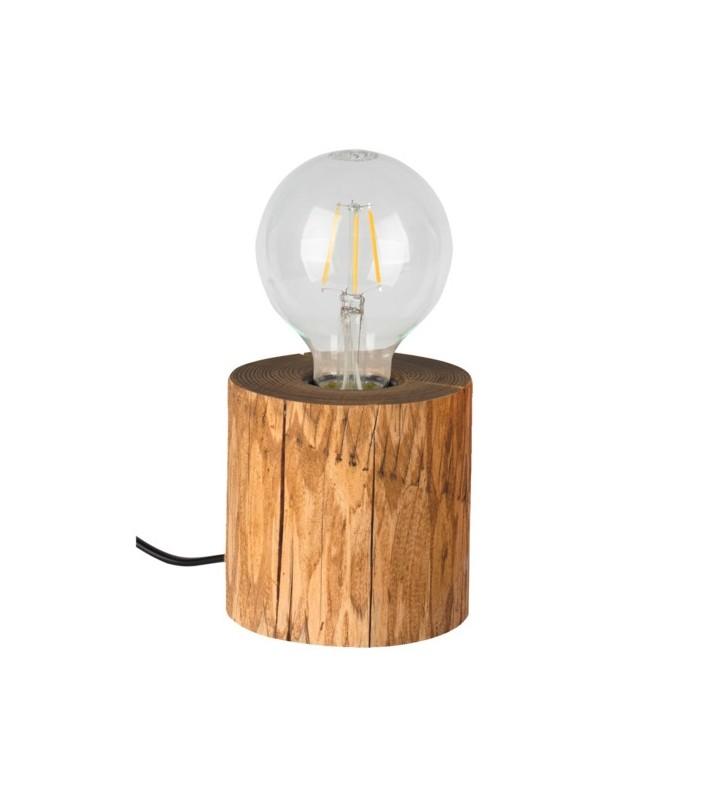 Mała drewniana lampa...