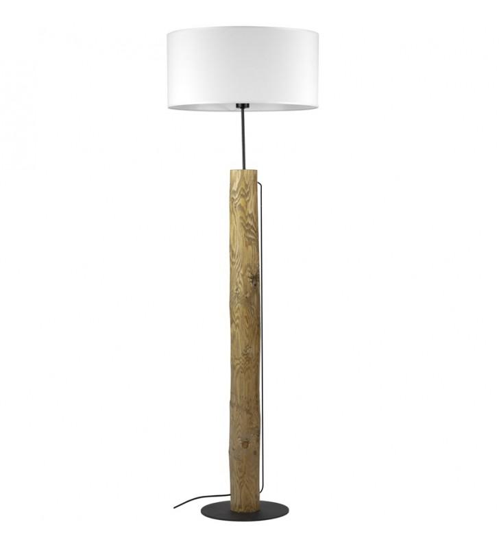 Drewniana lampa podłogowa...