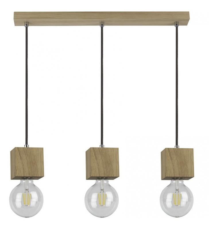 Dębowa lampa wisząca Trongo...