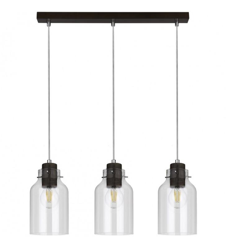 Potrójna lampa wisząca na...