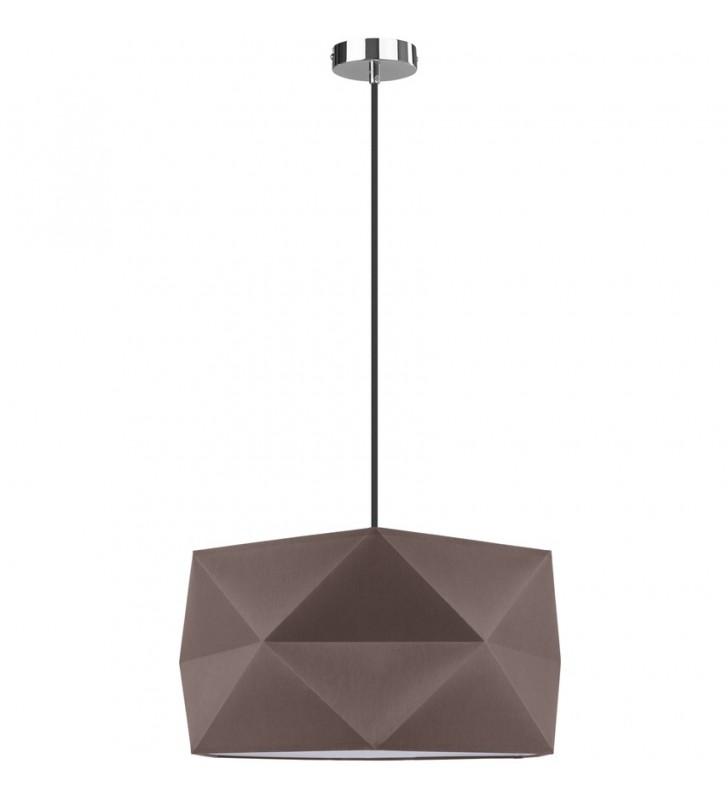Geometryczna brązowa lampa...