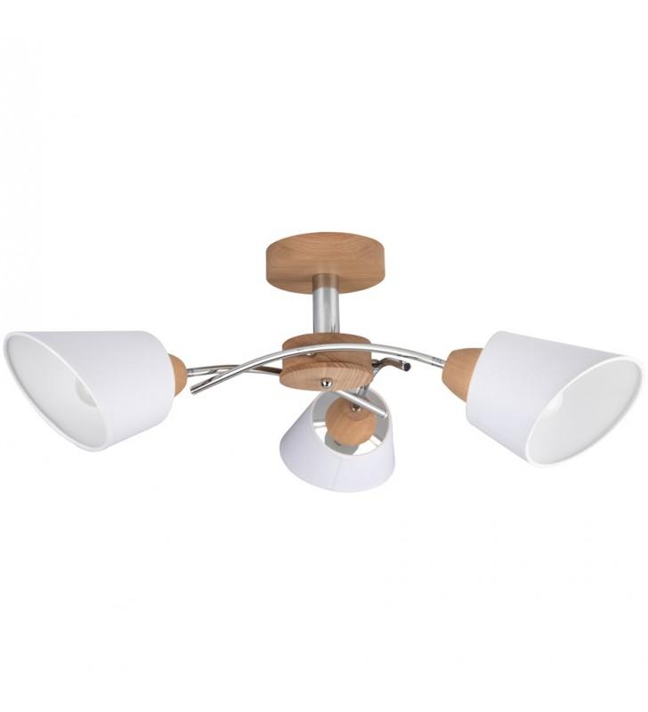 Lampa sufitowa Mette Wood z...