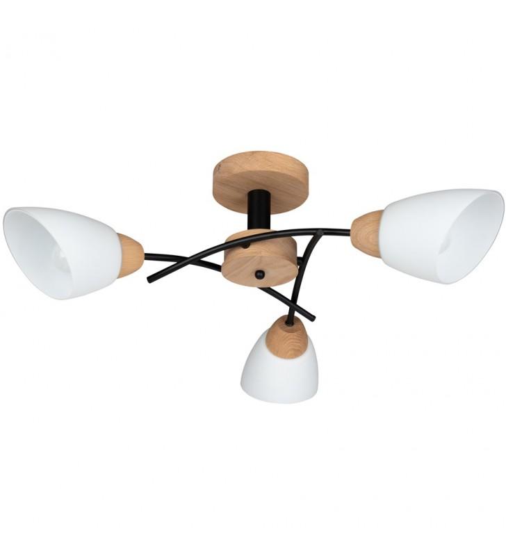 Potrójna drewniana lampa...
