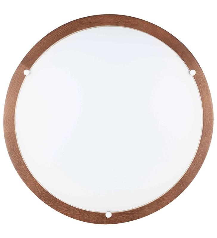 Okrągły plafon z drewna w...