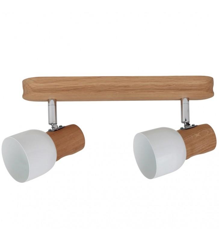 Drewniana dębowa lampa...