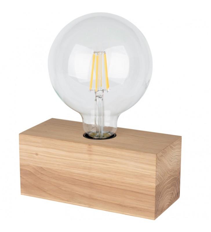 Lampa stołowa Theo z drewna...