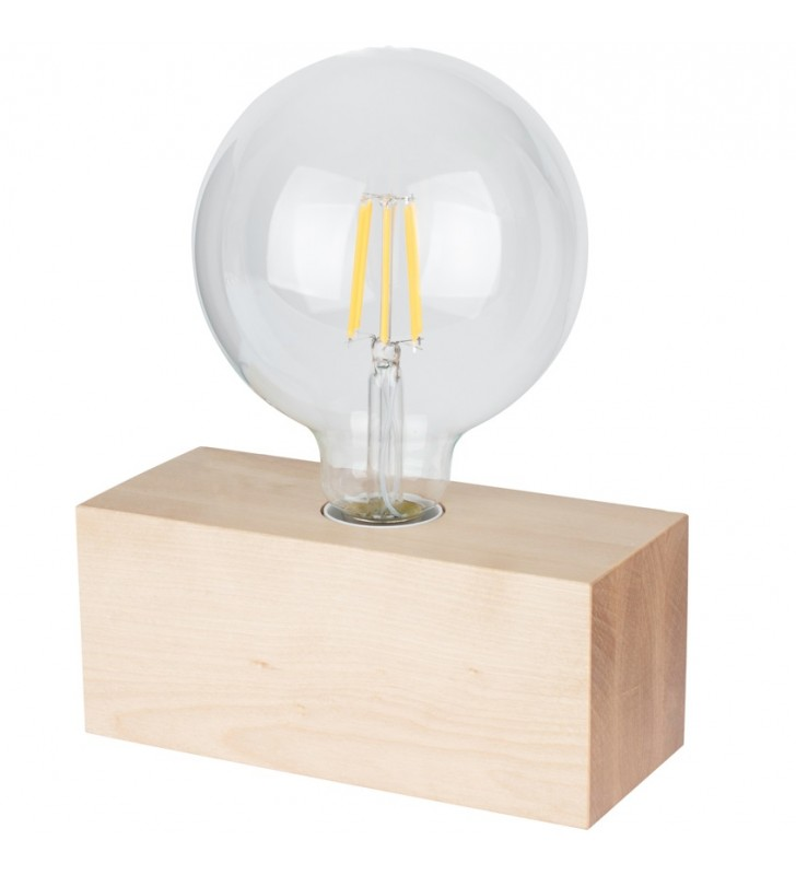 Mała prosta drewniana lampa...