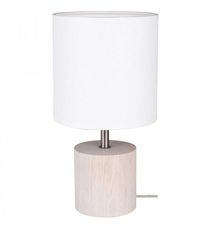 Lampa stołowa Trongo dębowa...