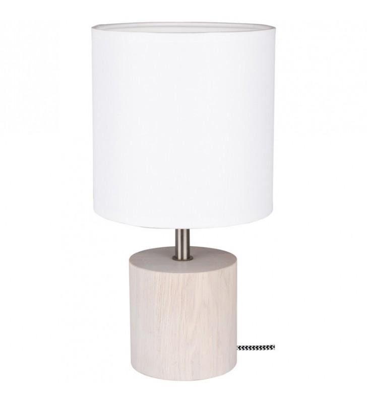 Jasna biała lampa stołowa z...