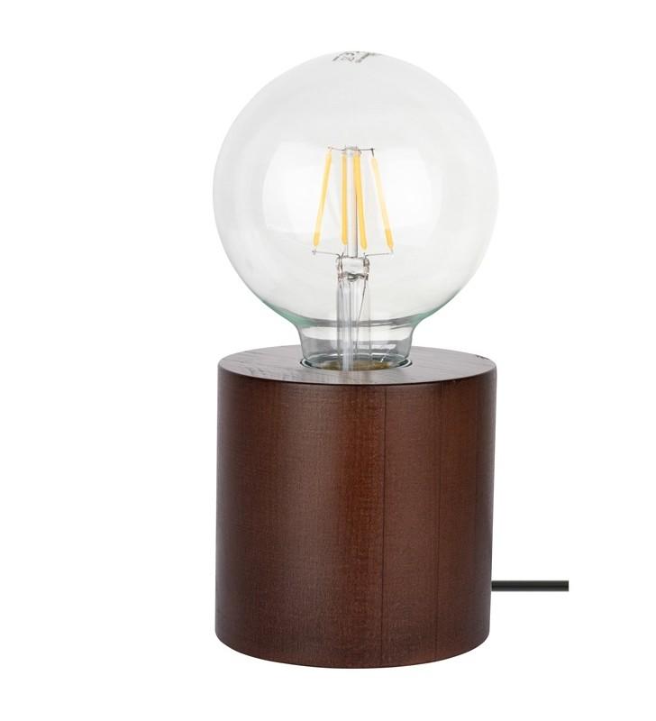 Mała drewniana lampka...