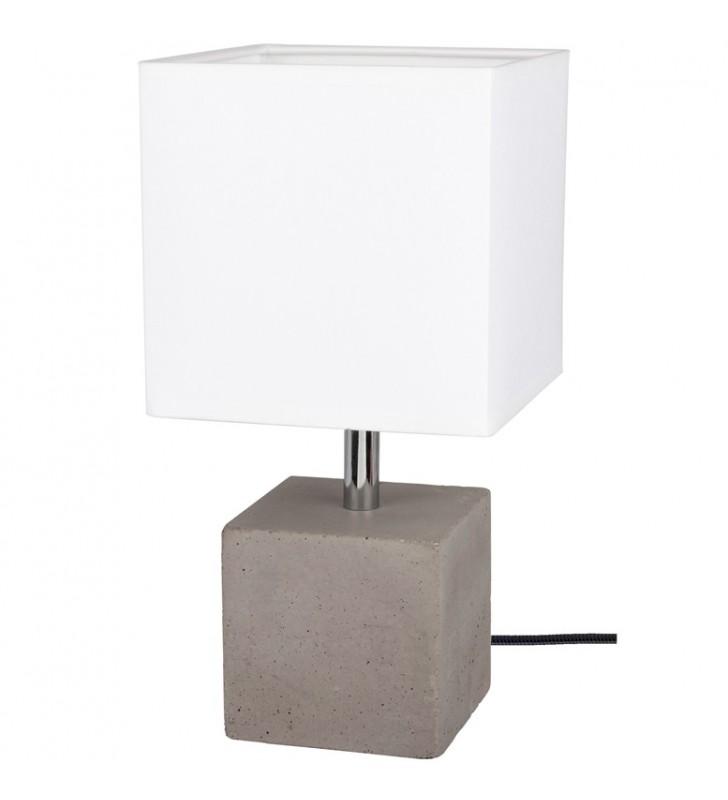 Lampa stołowa z szarą...