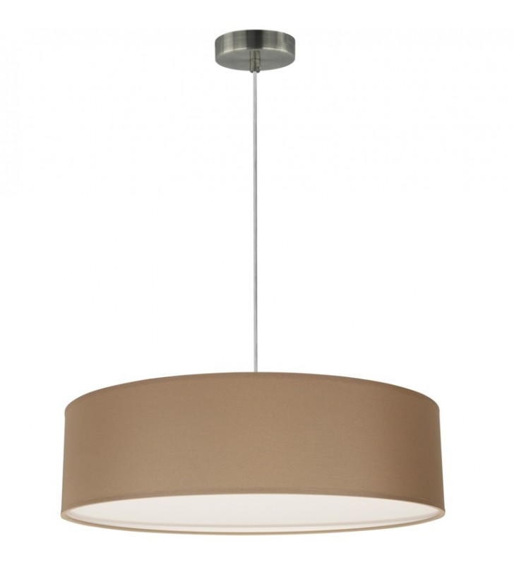 Brązowa 50cm okrągła lampa...