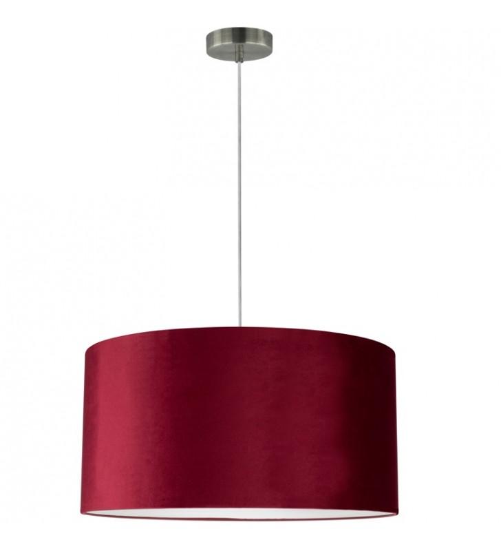 Bordowa lampa wisząca...