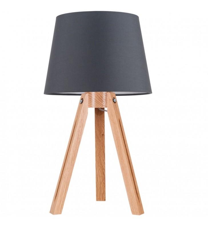 Lampa stojąca Tripod dębowy...