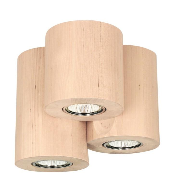 Drewniana lampa sufitowa...