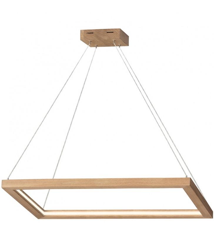 Dębowa lampa zwisająca...