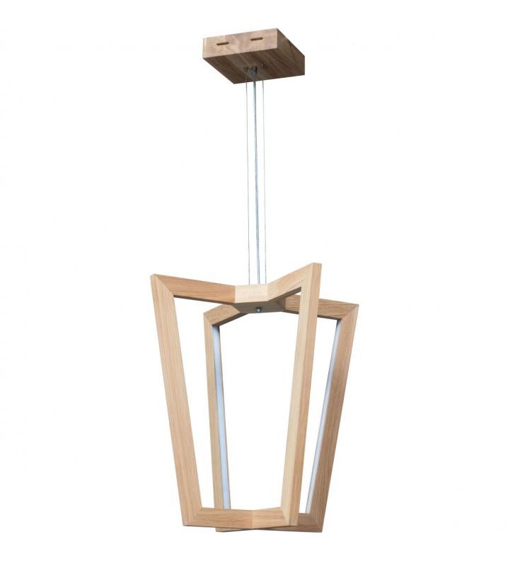Lampa wisząca z drewna...