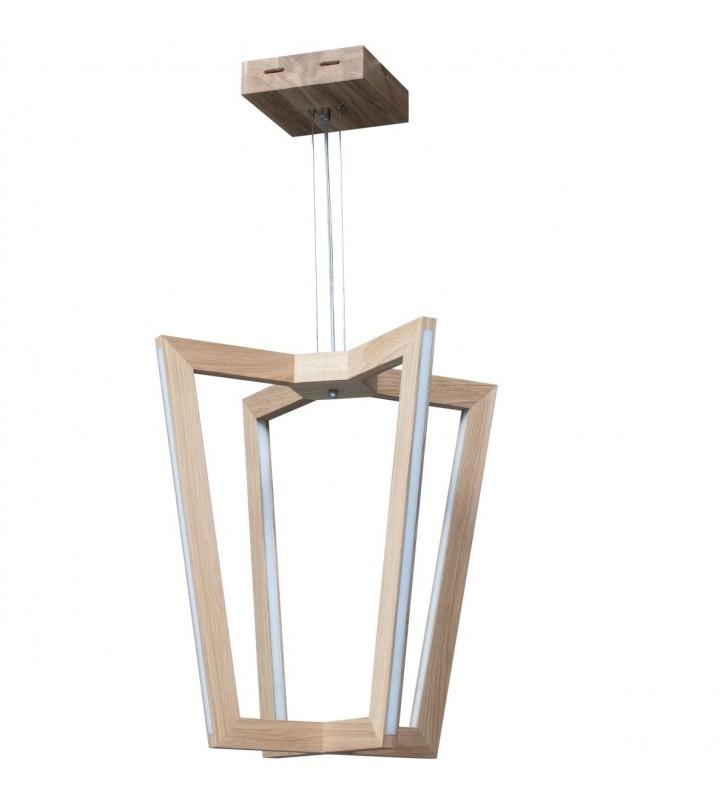 Lampa wisząca z drewna Leif...