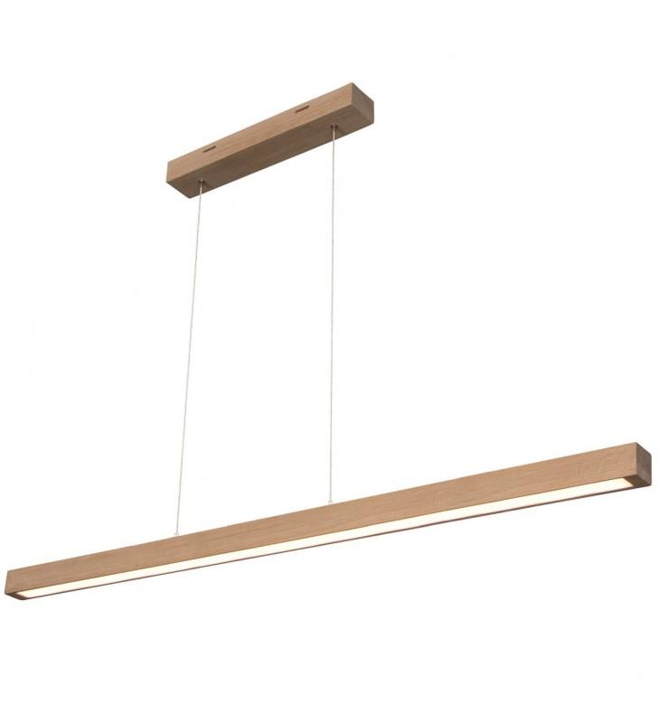 Drewniana podłużna lampa...