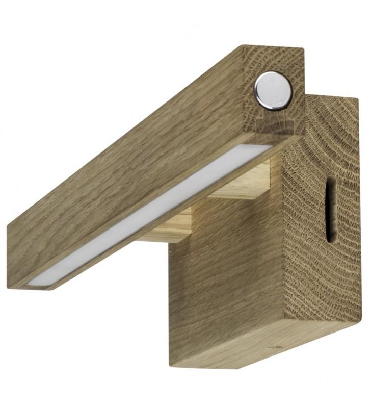 Lampa obrazowa z drewna...