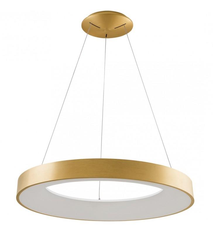 Duża 80cm okrągła złota...