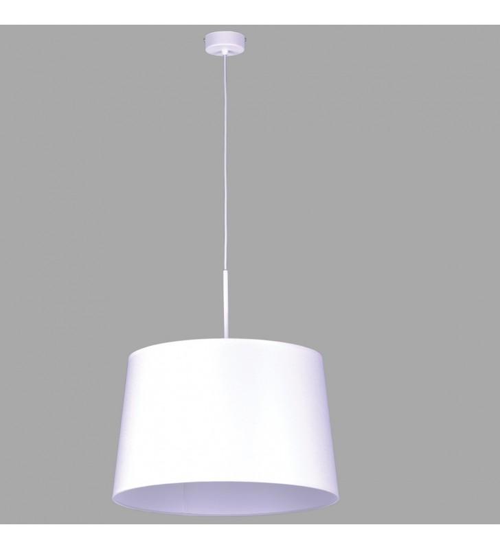 Biała okrągła lampa wisząca...