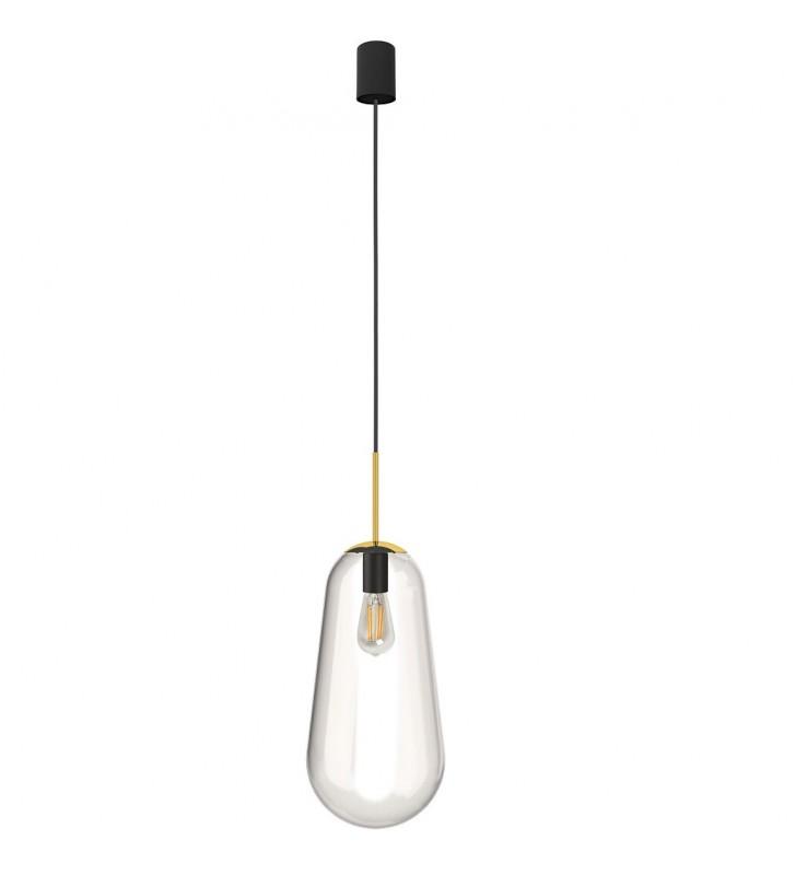 Szklana lampa wisząca Pear...