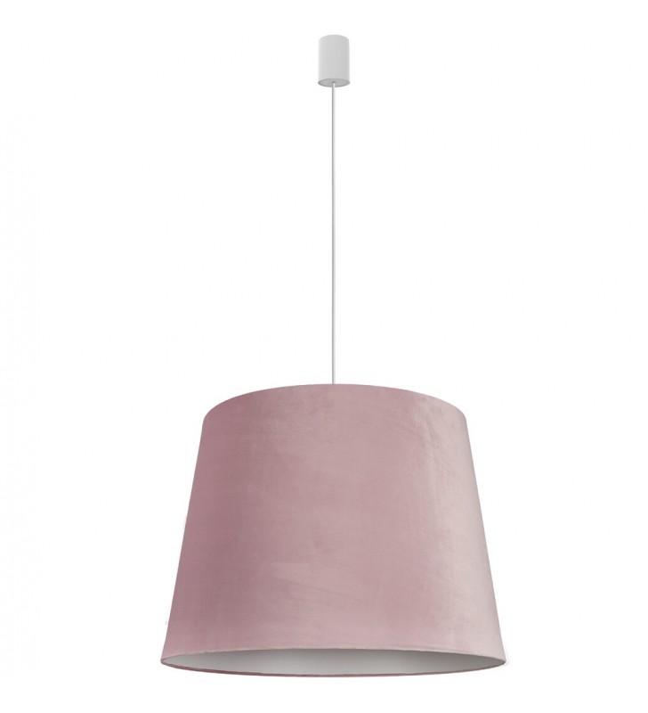 Różowa materiałowa lampa...
