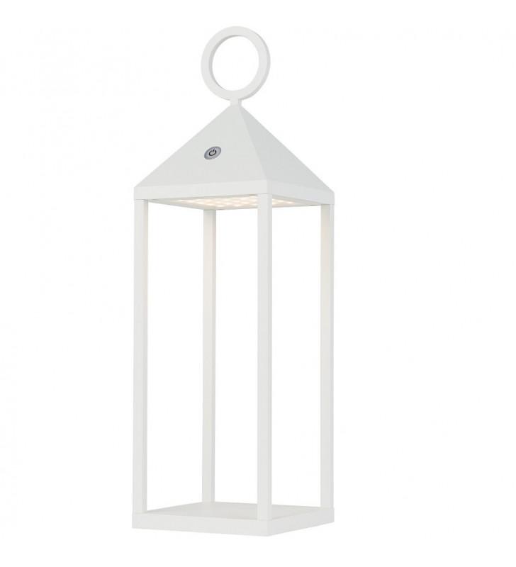 Zewnętrzna biała lampa...