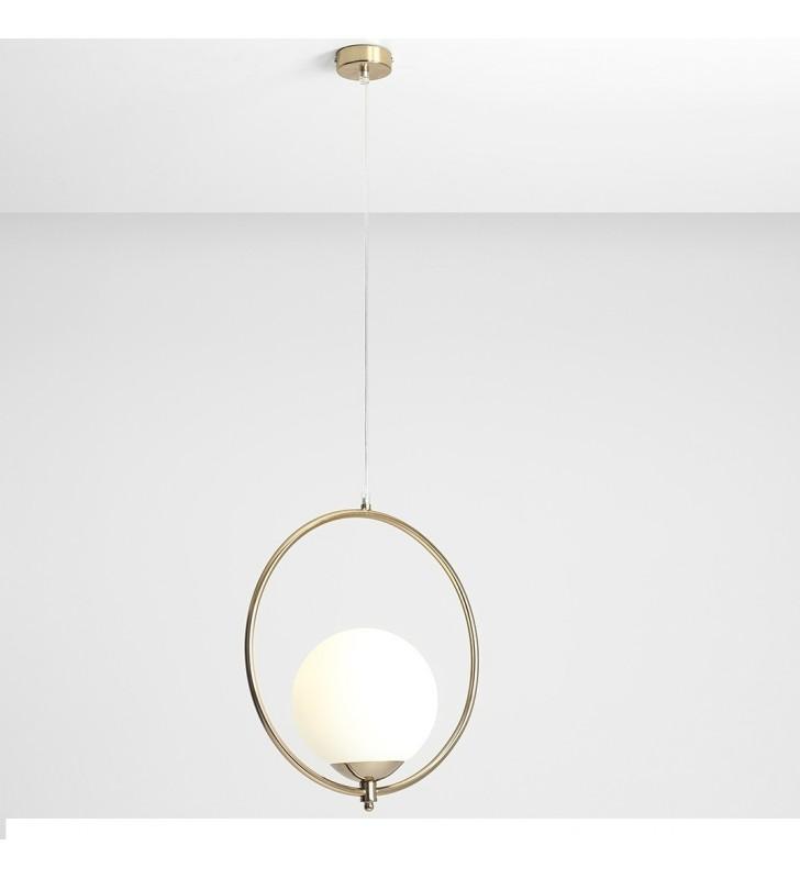 Złota nowoczesna lampa...