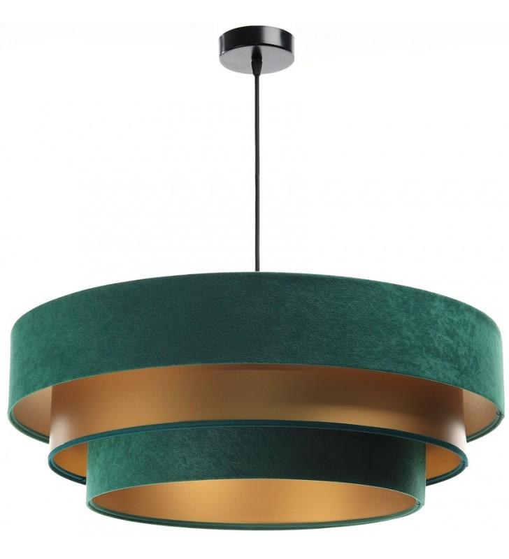 Zielono złota wisząca lampa...