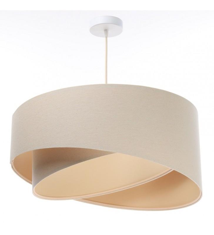 Kremowa asymetryczna lampa...