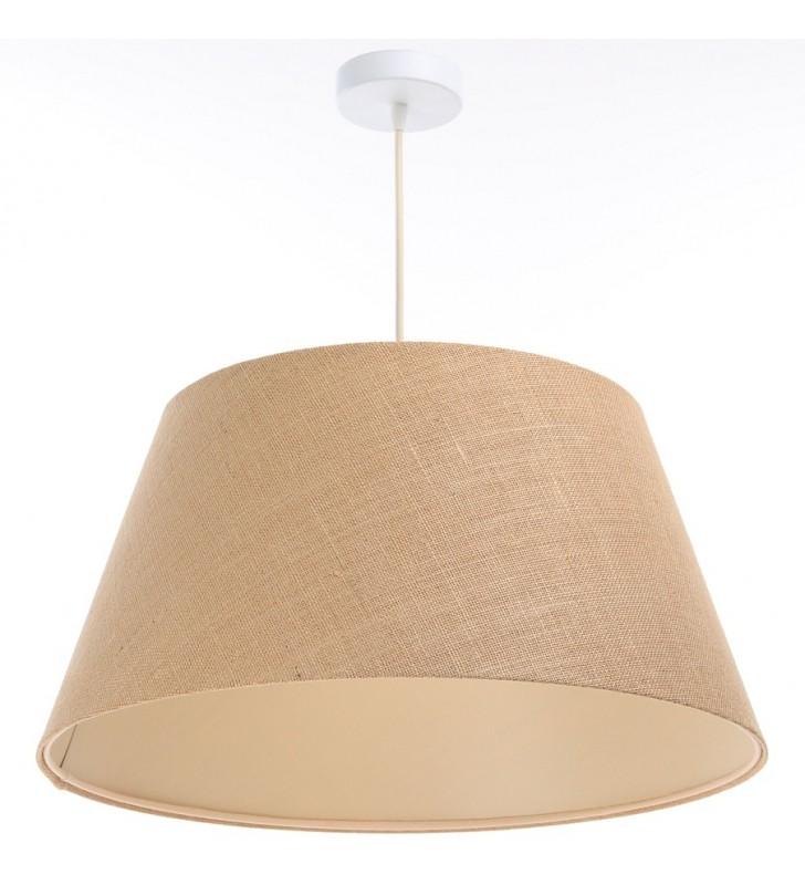 Beżowa lampa wisząca z...