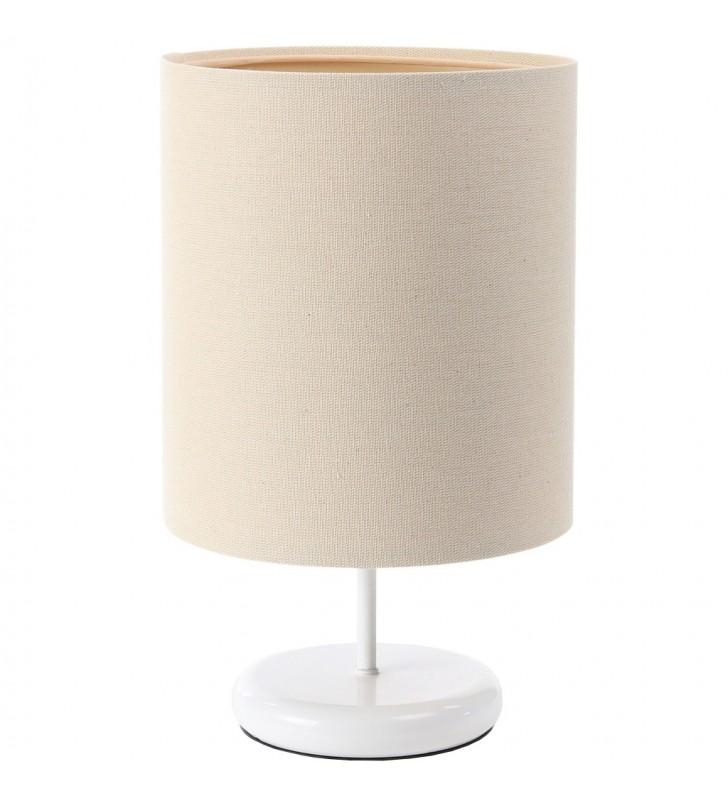 Biało kremowa lampa stołowa...