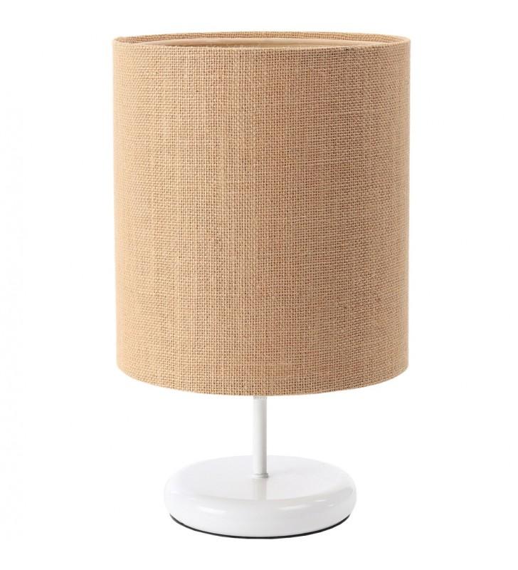 Biało beżowa lampa stołowa...