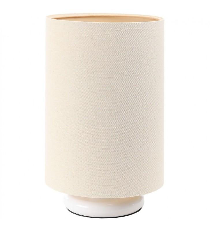 Lampa stołowa z lnianym...