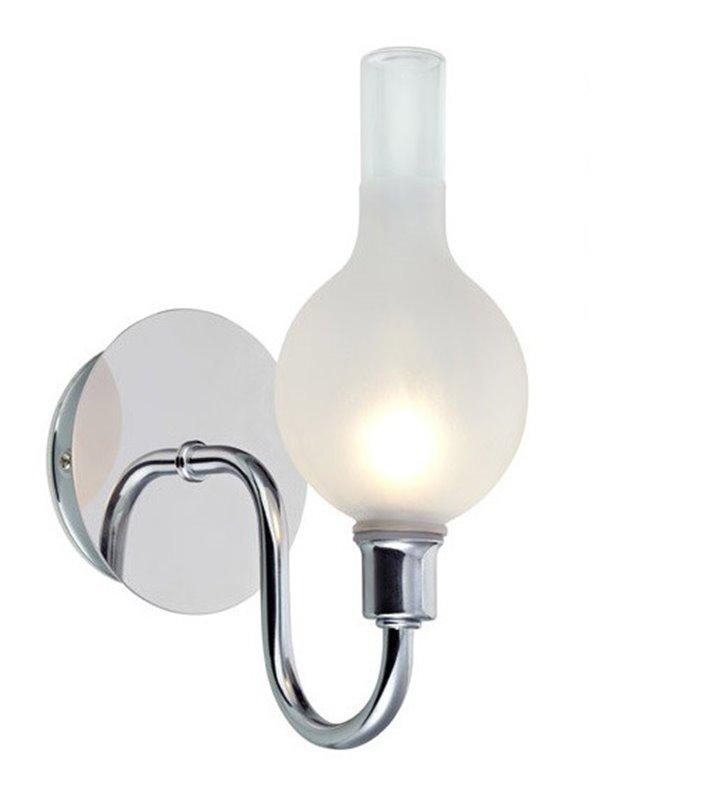 Stylowy kinkiet łazienkowy Liberty chrom IP44 jak lampa naftowa