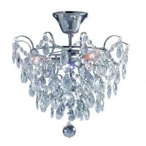 Plafon kryształowy, plafon sufitowy z kryształkami, lampy kryształowe sufitowe